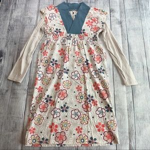 Tea Collection Cotton Long-Sleeve Dress, Size 10